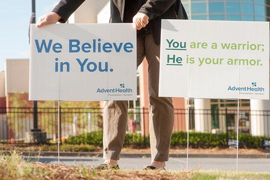 AdventHealth nursing support signs